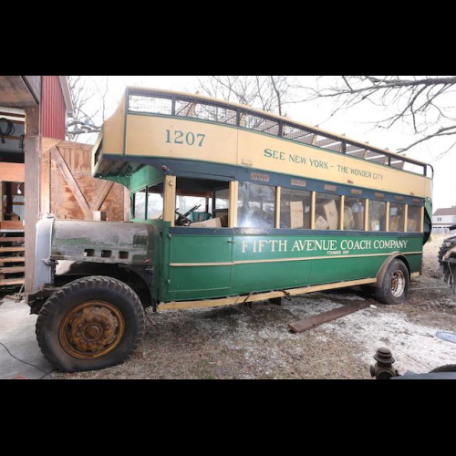 1926 Yellow Coach Open-top Double-decker Bus - The Bid Watcher